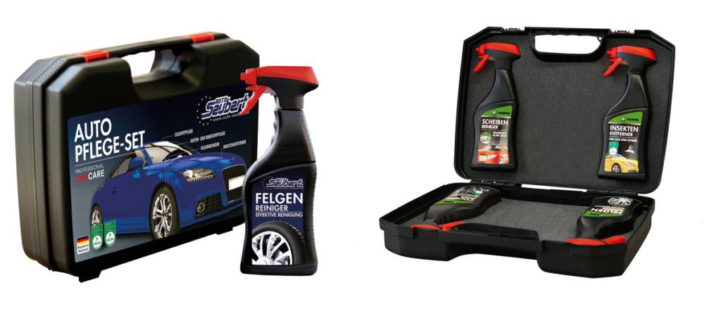 dein-name-drauf.de Koffersets hochwertiger Autopflegeprodukte mit Deinem Logo